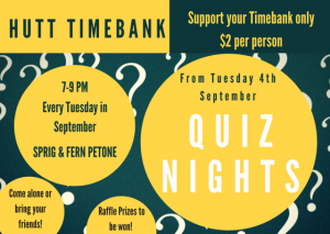 Hutt Timebank Quiz Nights 2018