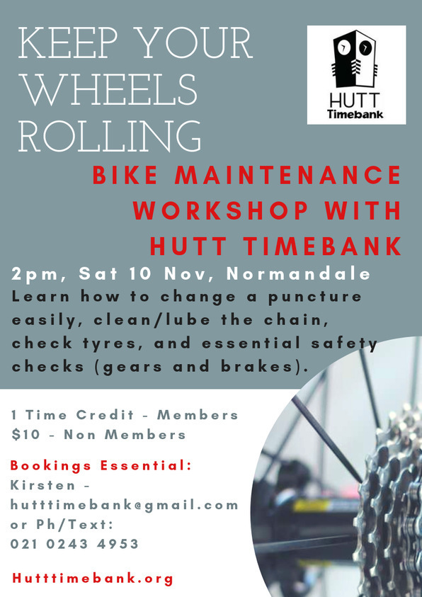 Hutt Timebank Bike Maintenance Workshop